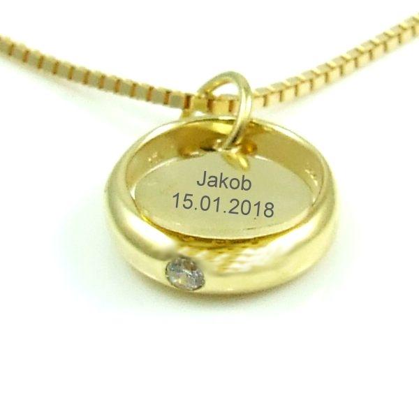 Taufring Taufuhr Schmuck Tauf Uhr Anhänger Gold 333 Taufe Geschenke Taufschmuck